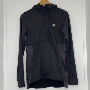 Adidas black climawarm windbreaker jacket size s